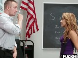 Schoolgirl Caught Smoking Weed Fucks Teacher