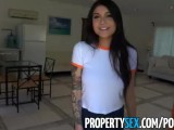 PropertySex – Hot Asian Tenant With Big Tits Fucks Her Landlord